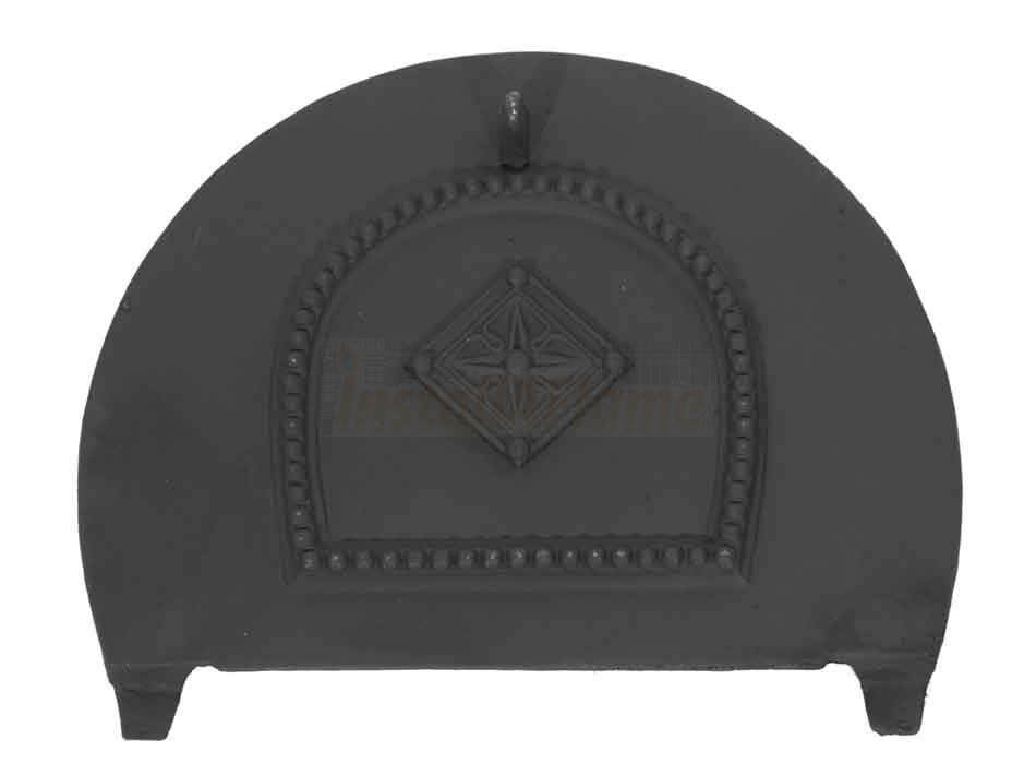 Solid Fuel Damper Cast Iron For Arched Fireplace Insert