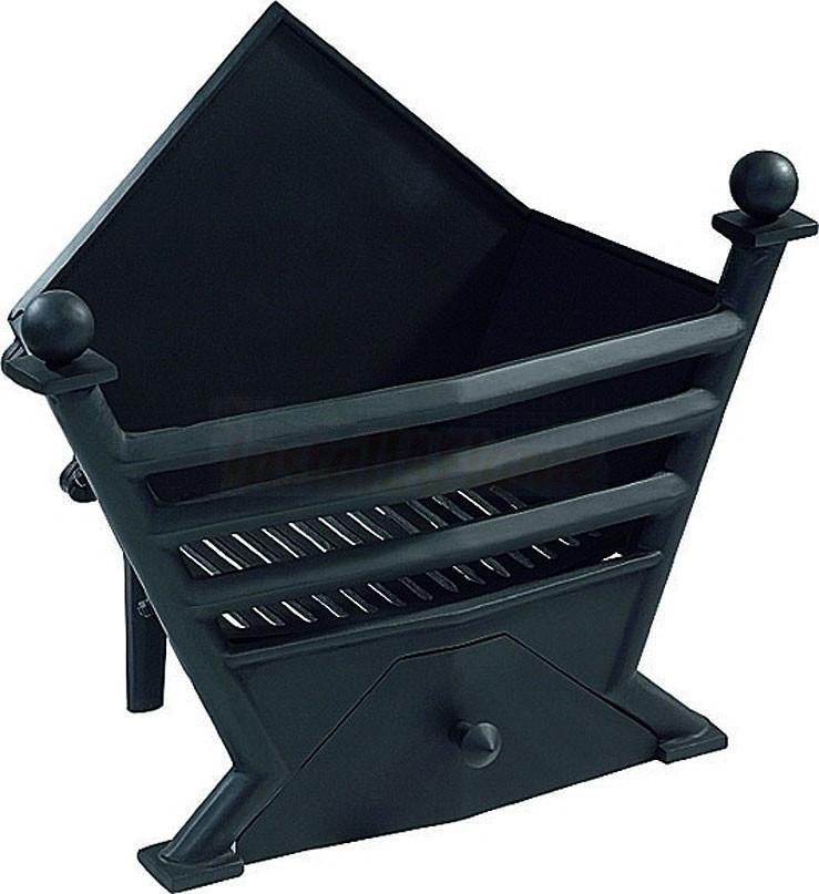 Art Deco Log Basket : Art deco basket in black finish