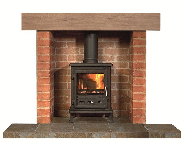 Brick Chamber 3 Piece With Solid Or Mock Oak Beam