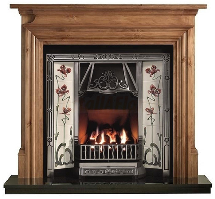Danesbury Pine Fireplace Mantel With Toulouse Tiled Insert