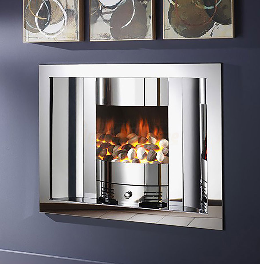 Crystal fires scoop gem fire hole in wall fireplace jpg