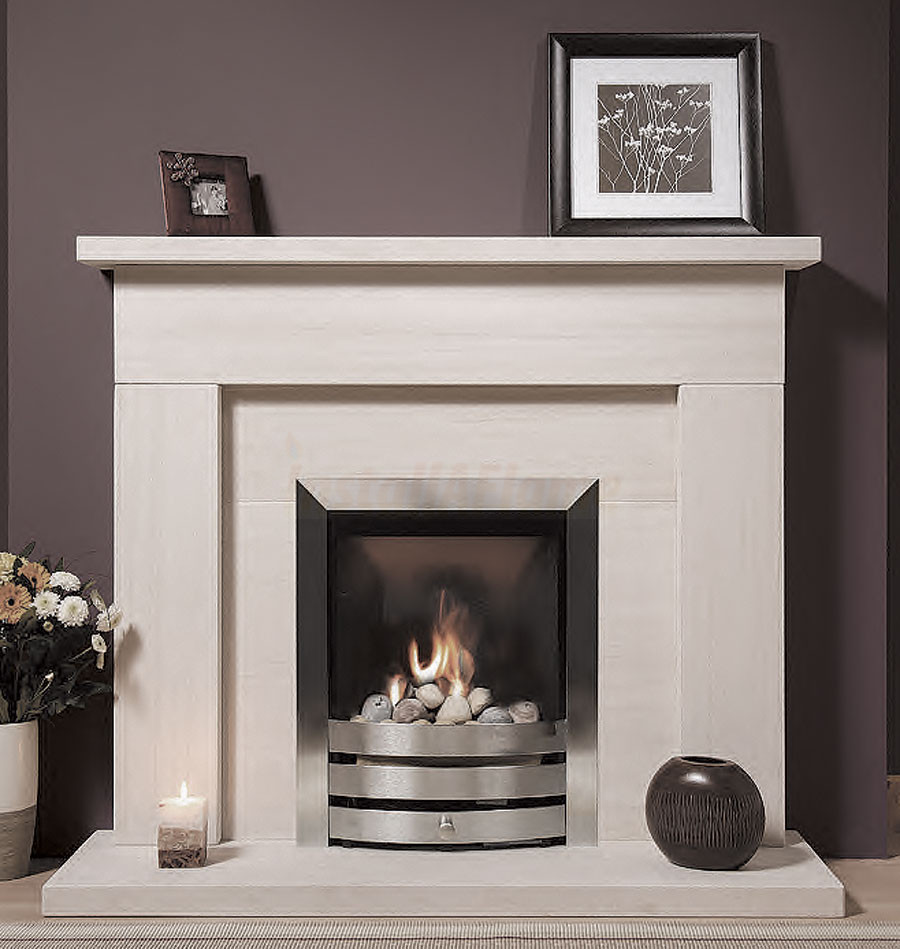 sherbourne portuguese limestone fireplace