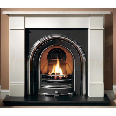 Brompton Agean Limestone Fireplace with Jubilee Arch Fireplace suite.jpg