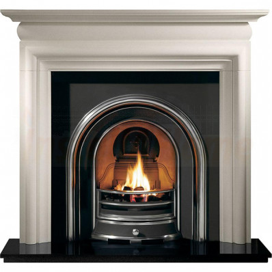 Asquith Agean Limestone Fireplace with Jubilee Arched insert .jpg