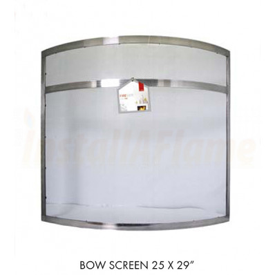 Bow Screen Black / Pewter Curved Fire-screen