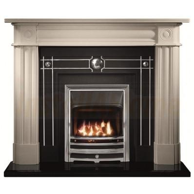 Chiswick Limestone Fireplace, Chamberlain fascia with Aurora Fire..jpg