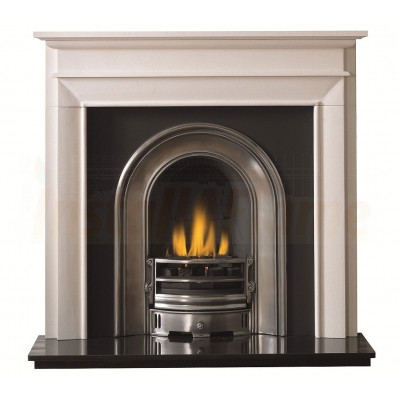 Fairfield Limestone Fireplace with Coronet Arch Insert.jpg