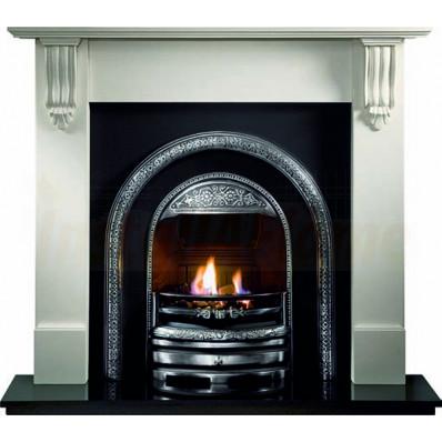 Richmond Agean Limestone Fireplace, Bolton Cast, living flame gas fire..jpg