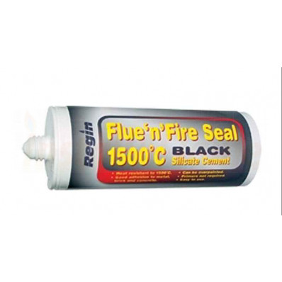 Flue'n'Fire Seal 150ml - Black (Heat Resistant) Cartridge