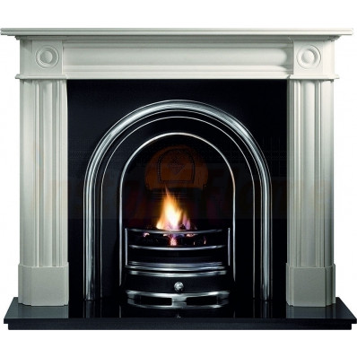 Chiswick Agean Limestone Fireplace Suite with Jubilee Arch insert.jpg