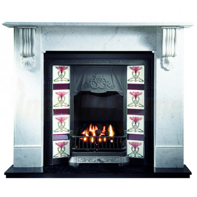 Kingston Carrara Marble Fireplace with Toulouse Cast, Gas Package.jpg