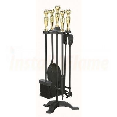 "Manor Companion Set Black/Brass 1066, Height 22"""