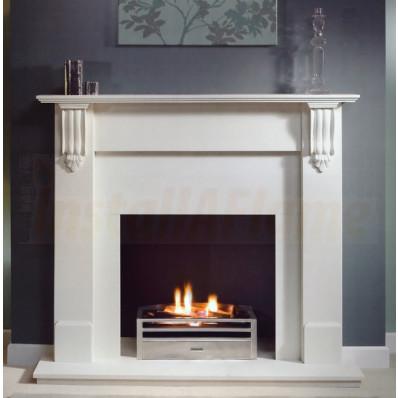 Richmond 54 Agean Limestone Mantel, Krypton Gas Fire