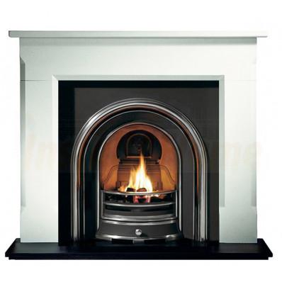 Sienna Limestone Fireplace, Jubilee Insert, Solid-fuel Kit