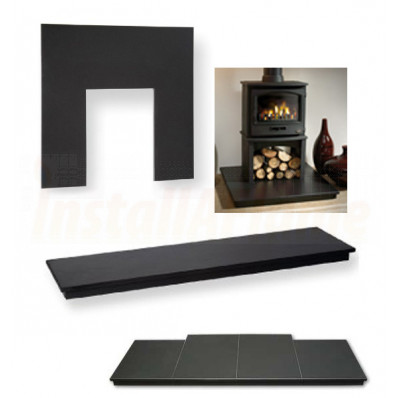 Slate Hearth, BackPanel, slips and Plinth