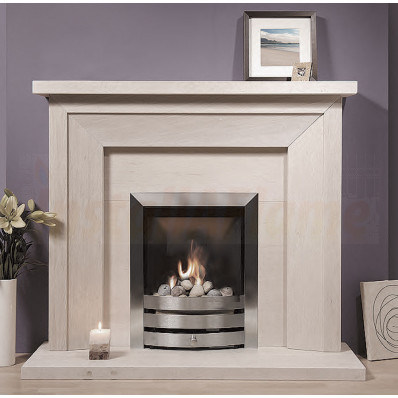 Tavira Portuguese Limestone Fireplace is a superb bevelled suite that cannot fail to draw an admiring glance.jpg