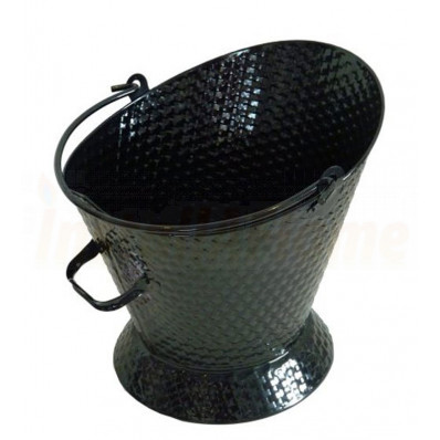 Waterloo Bucket Black Basket Weave