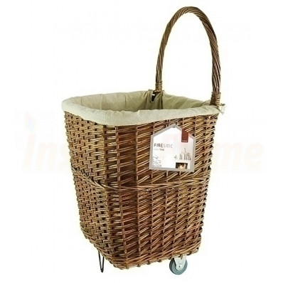 Log Basket, Wicker Cart