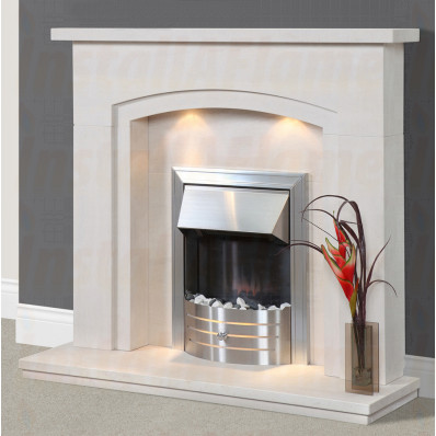 Amoreira Portuguese Limestone Fireplace, Beautiful design with concealed lighting in high quality limestone.jpg