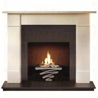 Brompton 56 Agean Limestone Mantel with Astra Gas Basket.jpg