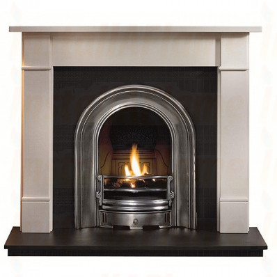 Brompton Limestone Fireplace with Coronet Gas Fired Arch.jpg