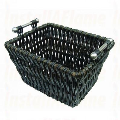 """Edgecott Log Basket, Willow, 22"""""""