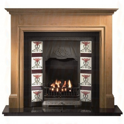 Oak Howard Fireplace Mantel with Toulouse tiled insert (Gas Package).jpg