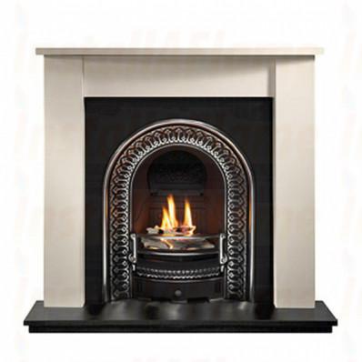 Henlow Agean Limestone Fireplace with Regal Arch Insert.jpg