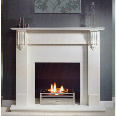 Richmond 54 Agean Limestone Mantel, Krypton Gas Fire