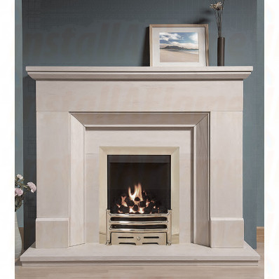 Stratford Portuguese Limestone Fireplace is a bevelled suite that cannot fail to draw an admiring glance as you enter a room.jpg
