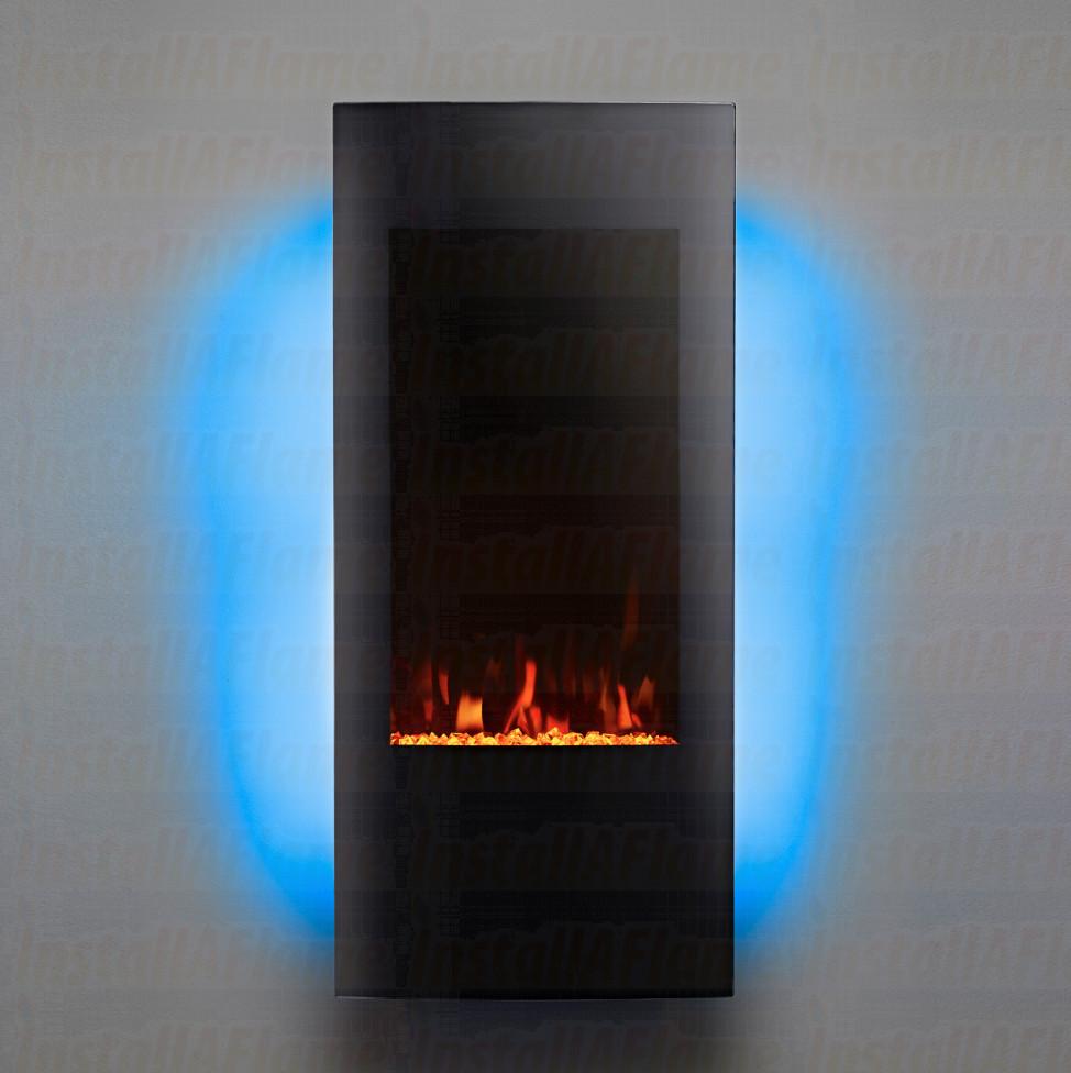 Eko Fires 1011 Grand Curved Black Glass Electric Fire