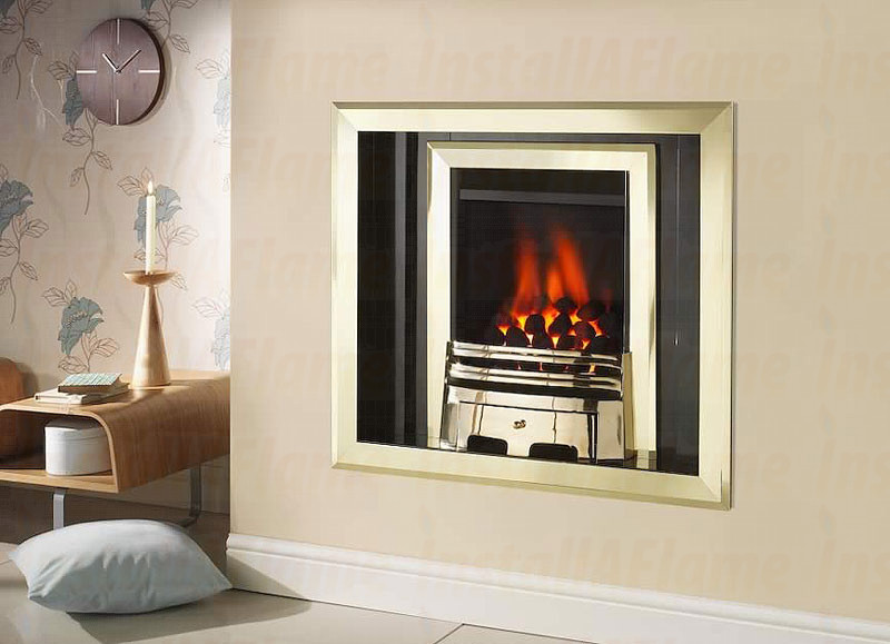 Crystal Fires Laura Inset Hole In Wall Fireplace