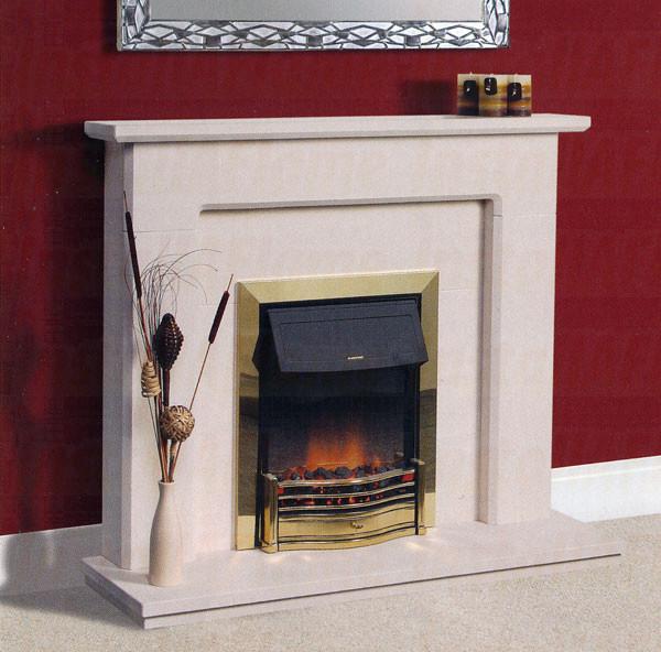 Velho Limestone Fireplace
