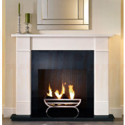 Brompton Limestone Mantel, Large Cradle Basket for Solid-Fuel.jpg