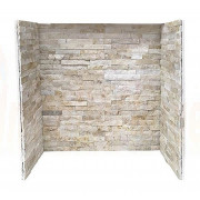 Cream Quartz Stone Tiled Fireplace Chamber.jpg