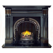 Dublin Corbel 60 Granite Mantel with Fitzwilliam Casting