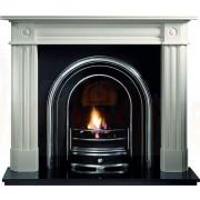 Chiswick Agean Limestone Fireplace Suite with Jubilee Arch insert.jpg