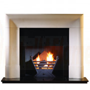 Delection Agean Limestone Mantel with Art Deco Solid Fuel Basket.jpg