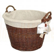Round Wicker Log Basket