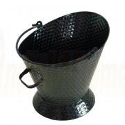 Waterloo Bucket Black Basket Weave