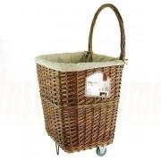 Log Basket, Wicker Cart