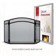Classic 3-Fold Firescreen (Black)