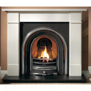 Brompton Agean Limestone Fireplace with Jubilee Arch Fireplace suite.jpg