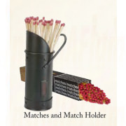 Match Holder ( Black ) + Matches Set