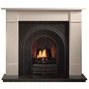 Brompton Agean Limestone Fireplace with Crown Arch (Solid Fuel)