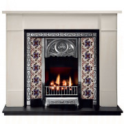 Brompton Agean Limestone Fireplace with Tulip Tiled Insert