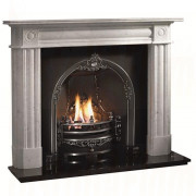 Chiswick Carrarra Marble Fireplace, Gloucester Arch for Solid Fuel.jpg