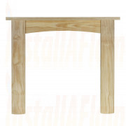Ekofires Unfinished 48'' Pine Fireplace Surround