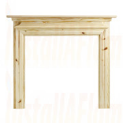 Ekofires 7060 Unfinished 54'' Pine Fireplace Surround.jpg