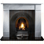 Brompton Cararra Marble Fireplace with Landsdowne Arch for Solid Fuel.jpg